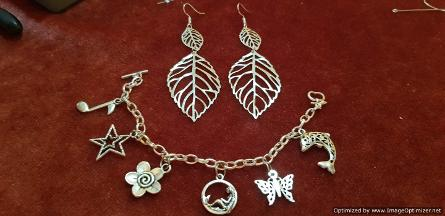 silver jewellery made during Crafty Accessories Party for teenage girls