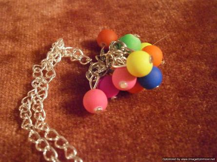 funky pendant necklace made during Full Circle birthday party for girls
